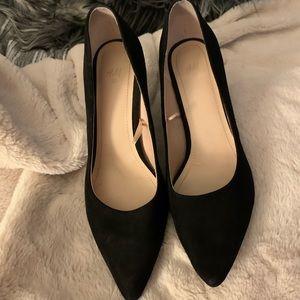 H&M Black Suede Heels